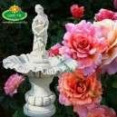 Vízöntő nő kis szobros szökőkút