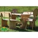 Faragott kerti bútorok lóvas motívummal