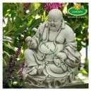 Rózsafüzérrel nevető Buddha szobor eladó