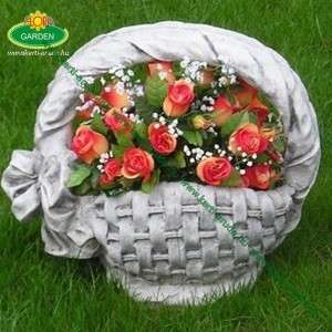 Virágtartó kosár masnis