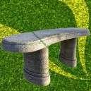 Kerti pad eladó kőből íves