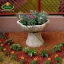 Magasított virágtartó virágtál