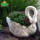 Hattyú virágtartó kültéri kaspó