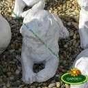 Fekvő kutya szobor új termék
