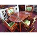 Kerti asztal székkel
