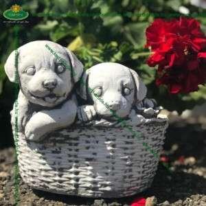 Kutyás ajándék virágtál kutyusos
