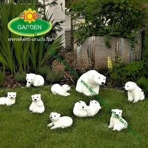 Kültéri dekoráció téli jegesmedvék