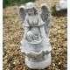 virágtartós angyal szobor