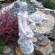 Vízköpő női szobor