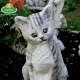 Macska kerti dísz kerti dekoráció