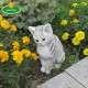 kert dekoráció macska