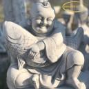 Pocakos Buddha szobor hallal