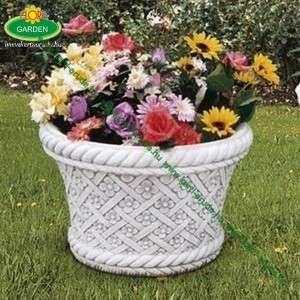 Nagy virágtartók kőből virágmintás kaspó