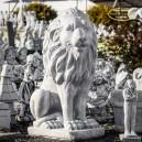 Oroszlán kerti szobor