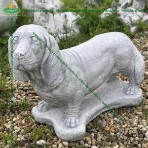Basset hound kutya szobor