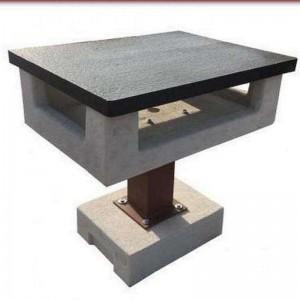 Minimál stílusú kerti grill asztal