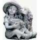 Virágtartó lány szobor