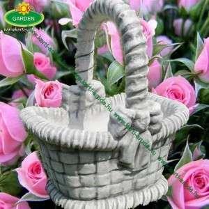 Kővirágtartó kosár masnis