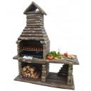 Fahatású kerti sütő grill