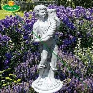 Fiú kerti szobor bőség szaruval