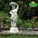Eladó szobor nő gyümölcskosárral