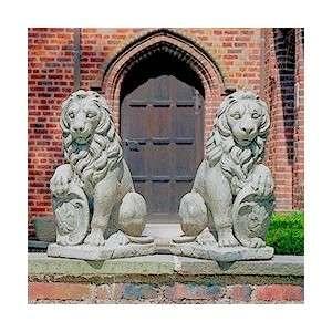 Ülő oroszlán szobor jobbos