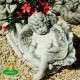 Kültéri angyal szobor