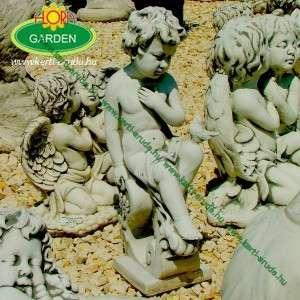 Angyal szobor hajlított oszlopon