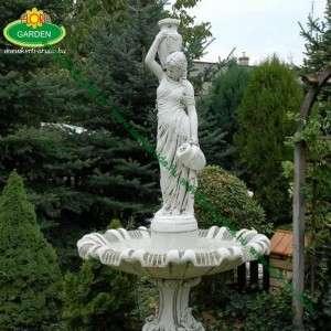 Szökőkút kétkorsós női szoborral