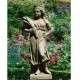 Nő kalásszal kerti szobor