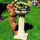 Kutya színes kerti virágtartó különlegeség