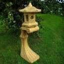 szinre antikolt kerti lámpás