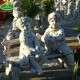 Gyerekek padon kert dekoráció
