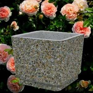 Gyöngykavicsos kocka virágláda