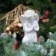 Imádkozó angyalka kültéri dekoráció