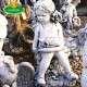 kislány kerti disz szobor