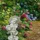 Esernyős kislány kerti szobor