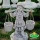 Vízhordó kislány  kerti dísz szobor