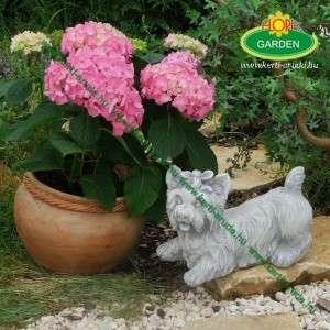 Yorkshire terrier kőszobor kerti dísz