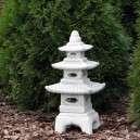 Kerti  pagoda lámpa kőből 3-szintes