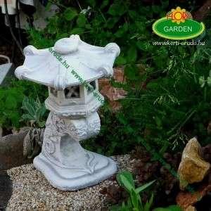 Kerti kő lámpa díszes kicsi