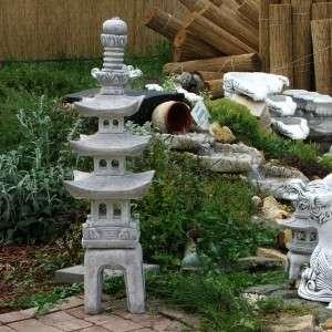 Pagoda kő lámpás 3 szintes
