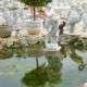 Vízöntő nő nagy kerti szobor