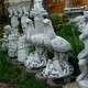 Különleges kerti szobrok sas a fiókáival