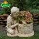 különleges kerti virágtartó