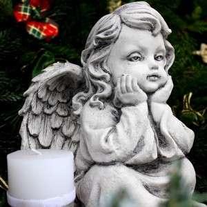 Karácsonyi dísz őrző angyal