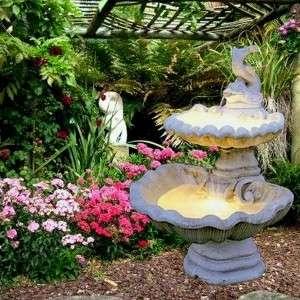Halacskás 2 szintes kerti csobogó