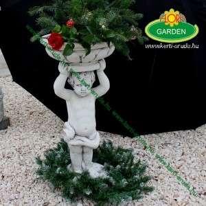 Angyalka vázával kültéri virágtartó