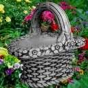 Virágtartós vesző kosár kaspó