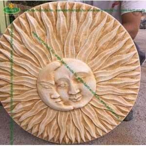 Fali dekoráció kültéri fagyálló nap és a hold